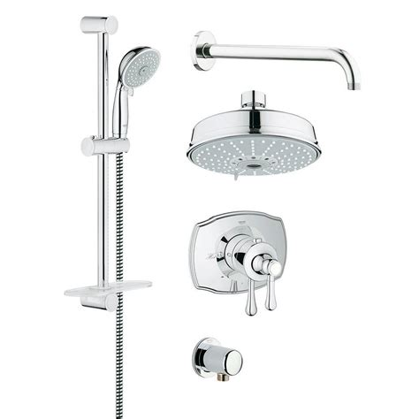 Grohe Shower Heads by Grohe Grohflex Authentic 4 Spray Shower And Shower