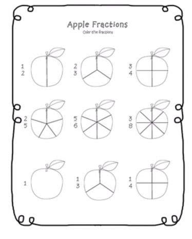Apple & Pumpkin Printables in 2020   Fractions worksheets ...