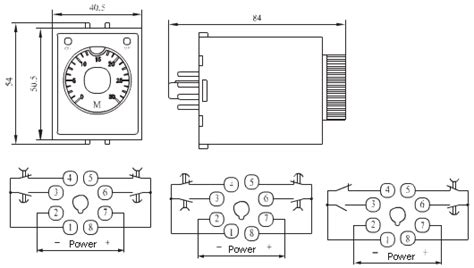 Time Delay Relay Wiring Diagram With Sensor by Ah3 Electronic Time Relay Time Relays Sanying Electric