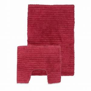 tapis de salle de bain contour wc rouge With tapis salle de bain rouge