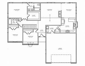 ranch house simple 3 bedroom house floor plans plan for With simple three bedroom house plans