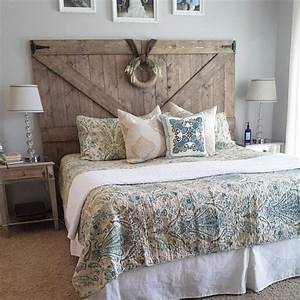 32 headboard ideas and diy tips for every style With barn door style headboard