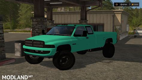 Mint Green 2nd Gen Dodge 3500 Cummins V 1.0 Mod Farming