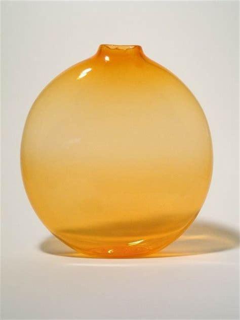 Orange Vases And Bowls by Etsy Blown Orange Glass Vase Glass Orange