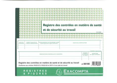 registre du travail modele registre des contr 244 les pour la sant 233 et la s 233 curit 233