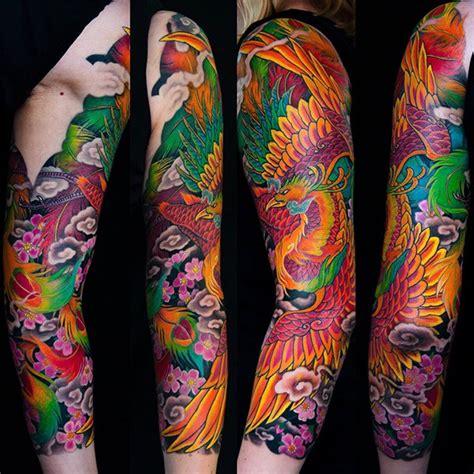 japanese phoenix tattoo japanese  sleeve  george