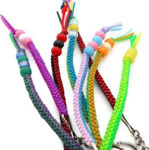 Plastic Lacing Cord Key Chains