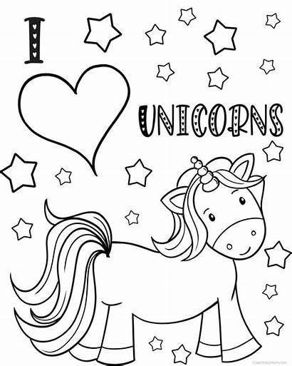 Unicorn Coloring Printable Sheet