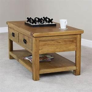 Z solid oak designer furniture coffee table village on for Cheap oak coffee table