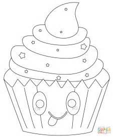 jeux de cuisines gratuit coloriage cupcake avec les étoiles kawaii coloriages à