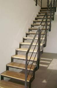 Escalier Droit Bois : escalier deco pinterest escaliers ~ Premium-room.com Idées de Décoration