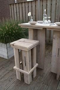 Fabriquer Un Bar : fabriquer un tabouret de bar en palette maison et ~ Carolinahurricanesstore.com Idées de Décoration