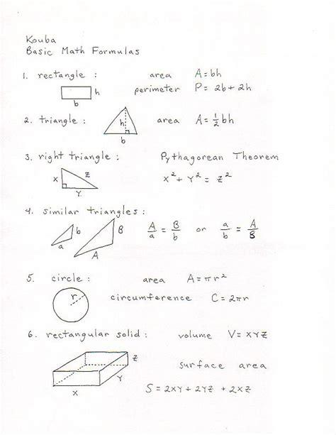 25 best ideas about math formulas on pinterest formulas in maths algebra formulas and
