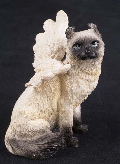 cat kitten memorial statue figurine memory pet angel grave
