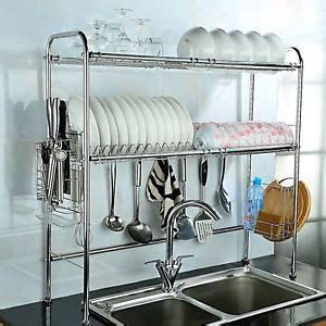 over sink drainer rack 2 shelf dish drying rack over sink storage kitchenware