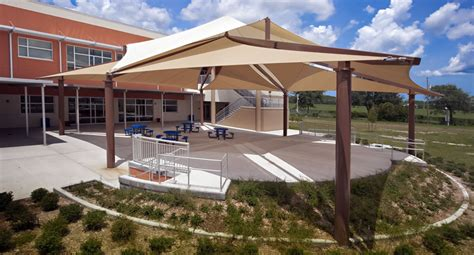 Fabric Sail shade structures for sun protection at ...