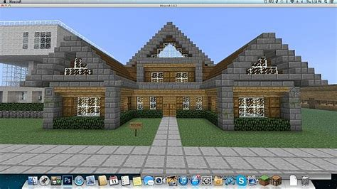 Modern Wooden House Medium Sized Minecraft Project