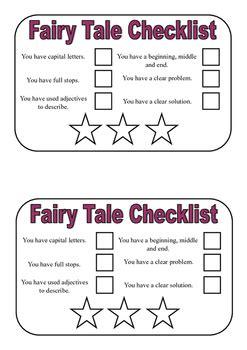 fairy tale writing checklist  shakeyjakes english