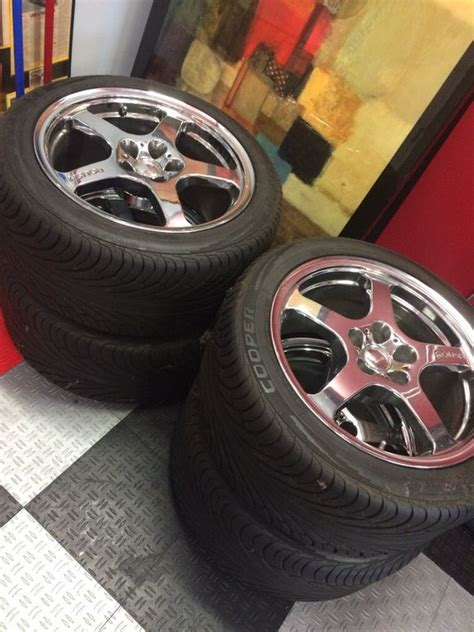 roush chrome rims  cooper brand tires fits