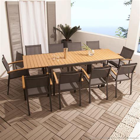 salon de jardin table et chaises emejing salon de jardin bois exotique leclerc gallery