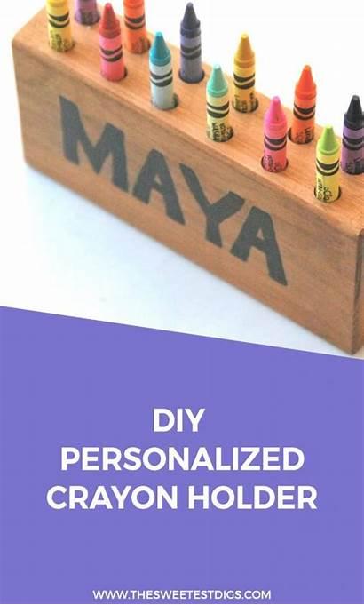 Holder Crayon Diy Pencil Easy Personalized Wood