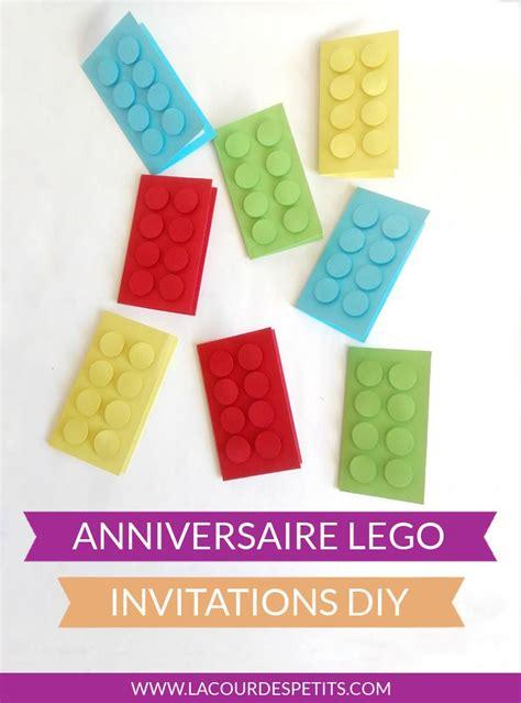 notre tuto special invitation danniversaire lego la