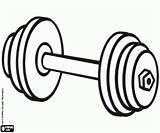 Equipment Coloring Pesas Colorear Weightlifting Peso Attrezzature Colorir Barra Pesi Bola Colorare Material Disegni Weights Weight Pesa Dibujos Lifting Halterofilia sketch template