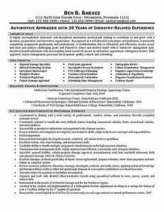insurance appraiser resume example samplebusinessresume With auto insurance resume