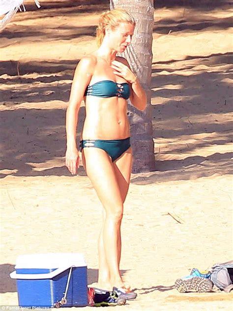 Gwyneth Paltrow Wows In String Bikini With Chris Martin On