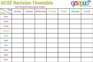 Timetable templates download free premium templates for Blank revision timetable template