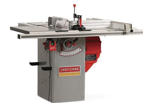 professional table saw reviews craftsman 22124 hybrid tablesaw finewoodworking