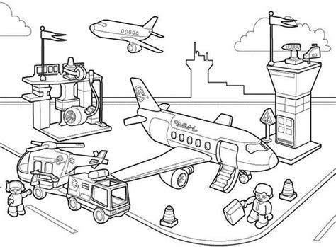 Lego Police Station Coloring Page Coloring Pages