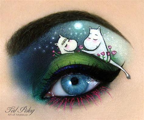 creative  unusual eye makeup art  tal peleg design swan