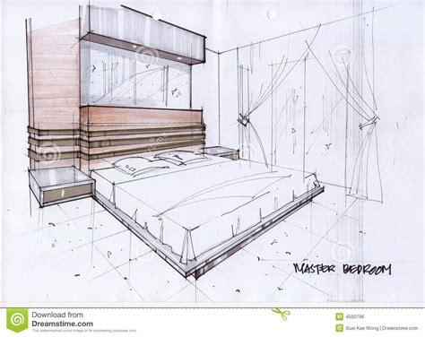 croquis chambre a coucher illustration du croquis 3d pour une chambre à coucher