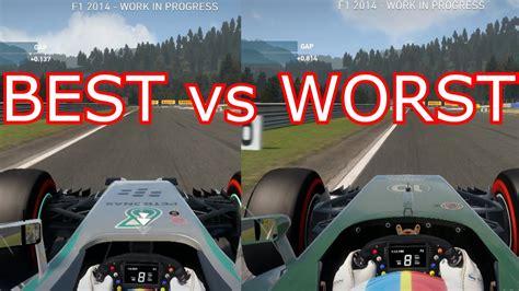 F1 2014  Best Car Vs Worst Car Comparison Youtube