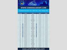 Faisalabad Ramadan Calendar 2019 Time table download