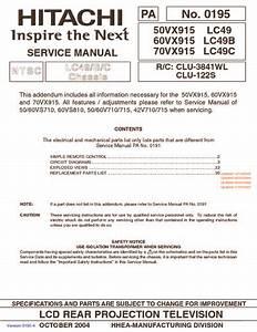 Hitachi 60vx915 Chassis Lc49  Service Manual  Repair