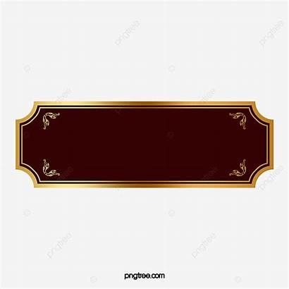 Label Frame Golden Clipart Psd Transparent