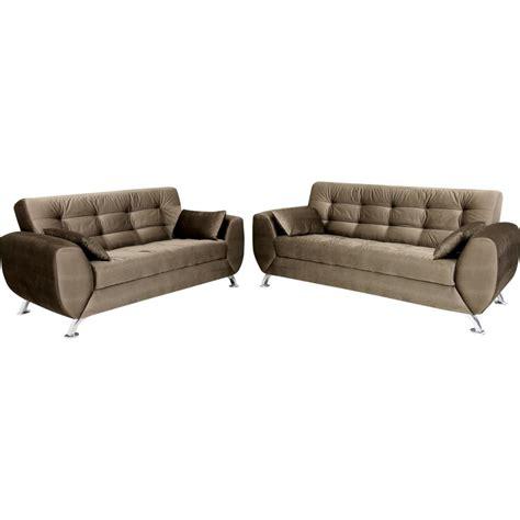 sofá 3 lugares linoforte larissa em tecido suede marrom sof 225 2 e 3 lugares tecido suede linoforte larissa