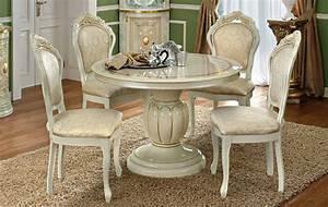 Esstisch Stühle Beige : esstisch rund ausziehbar italienische stilm bel klassik beige hochglanz ebay ~ Frokenaadalensverden.com Haus und Dekorationen