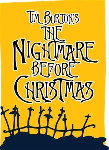 tim burtons  nightmare  christmas logo vector