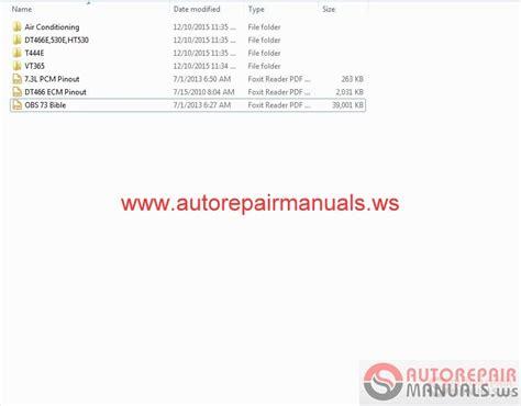 international 365 444 466 530 service manuals auto repair manual forum heavy equipment