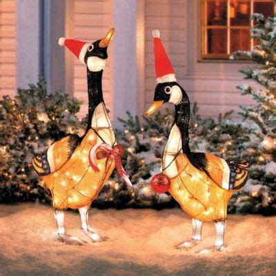 canadian geese christmas decoration set   christmas