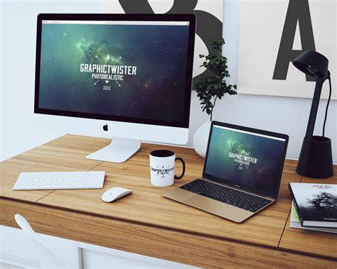 simple workspace mockup