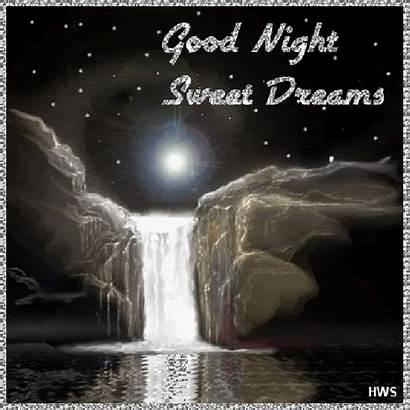 Night Goodnight Sweet Dreams Gifs Animated Evening