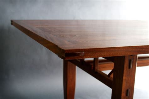 craftsman kitchen table and chairs custom made walnut and sapele dining table by bow river