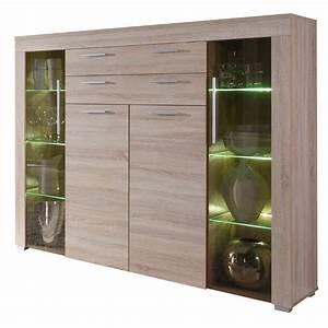 buffet vaisselier moderne avec 4 portes With couleur de meuble tendance 5 buffet haut chene clair moderne crossing