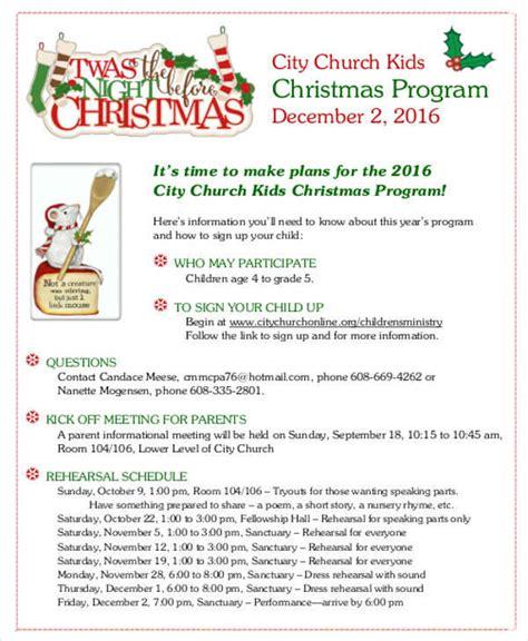 christmas program template 34 sle program templates word psd ai