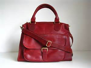 Red Leather Satchel Handbags