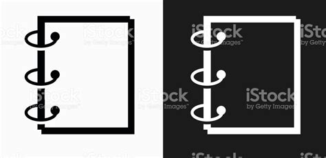 binder clipart black and white binder icon on black and white vector backgrounds stock